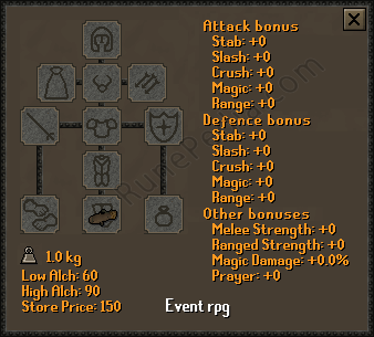 Event Rpg RuneScape Item - RunePedia com