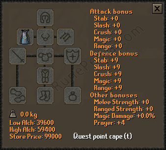 Quest Point Cape T Osrs Item Stats Price Other Information Rp After completing monkey madness ii and odd old man mini quest i. runepedia com
